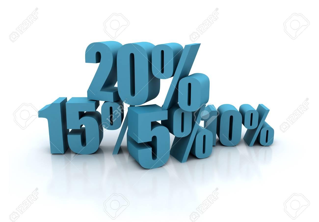 Discount illustration - percent illustration Stock Illustration - 8378383
