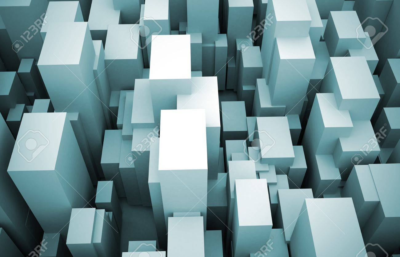 abstract city made of cubes stock photo picture and royalty free