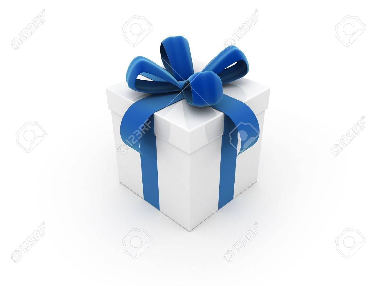 Gift box blue Stock Photo - 9534895
