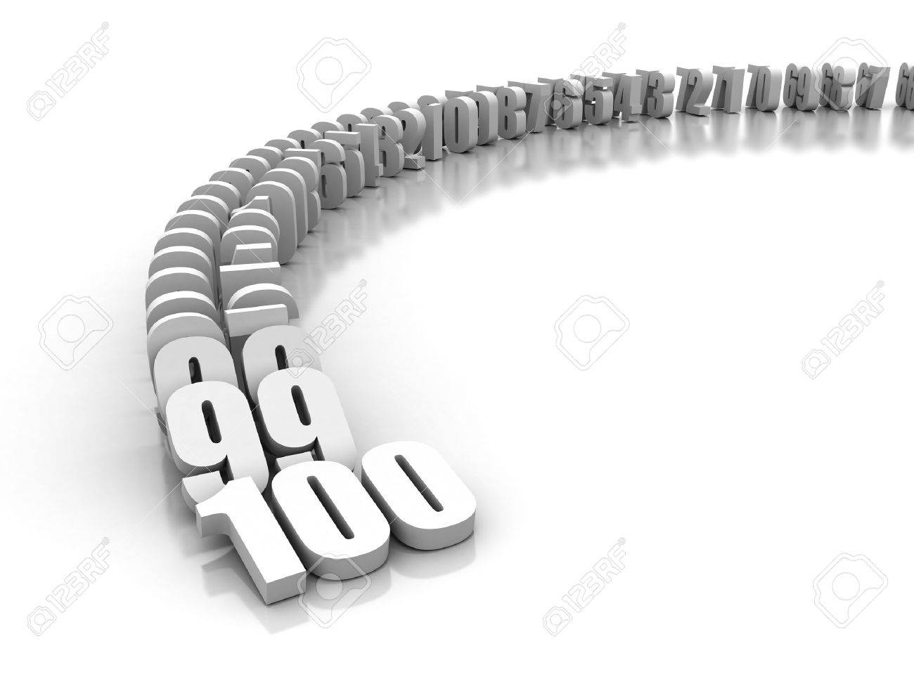 numbers domino effect count down from stock photo picture numbers domino effect count down from 100 stock photo 8953688