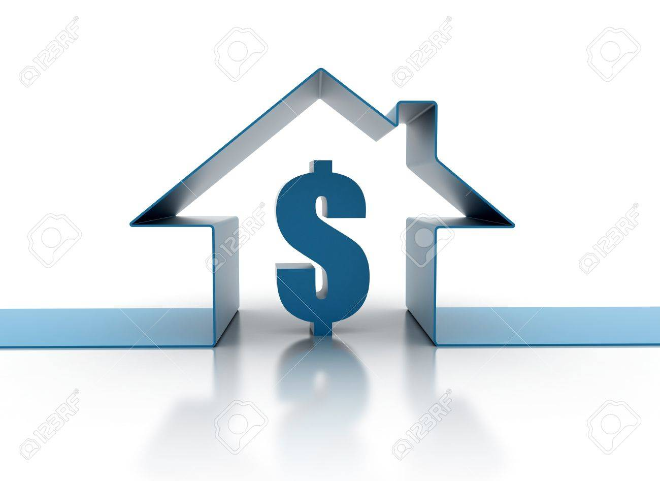 House loan cost illustration Stock Photo - 9586689