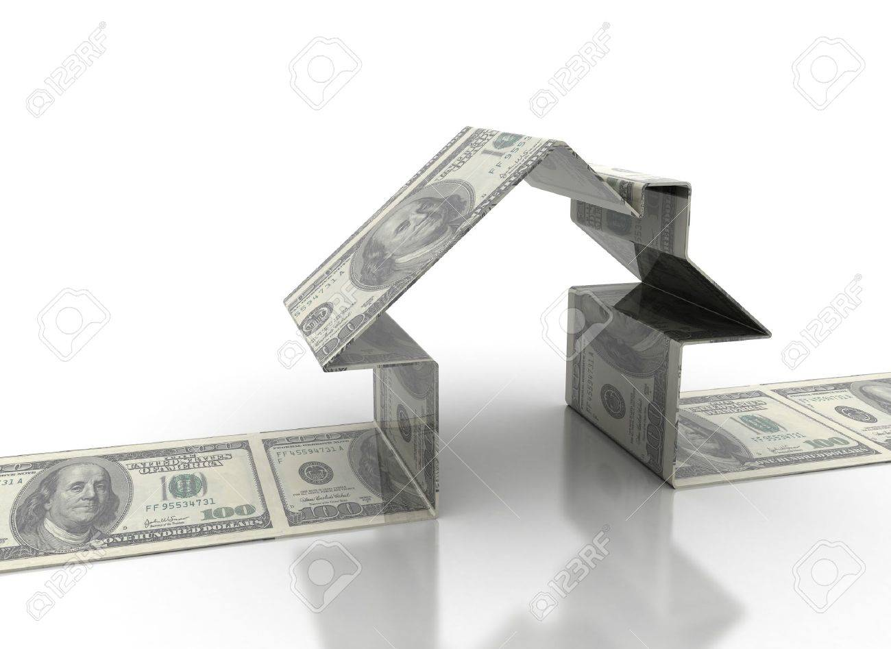 House model made of dollar bills Stock Photo - 9586737