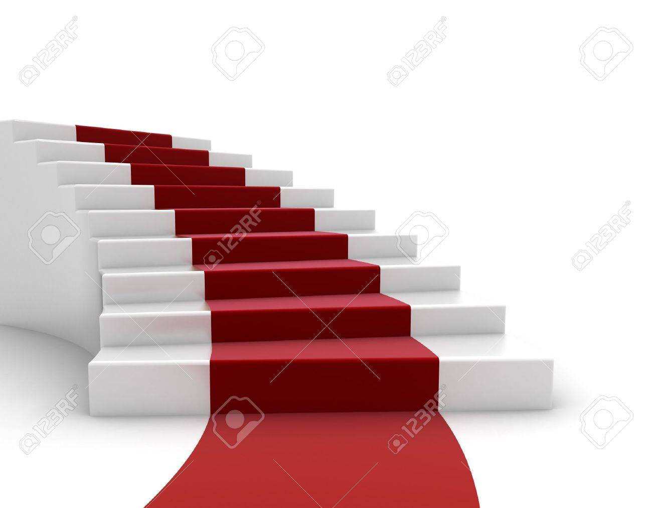 Stairs and red carpet Stock Photo - 10567077