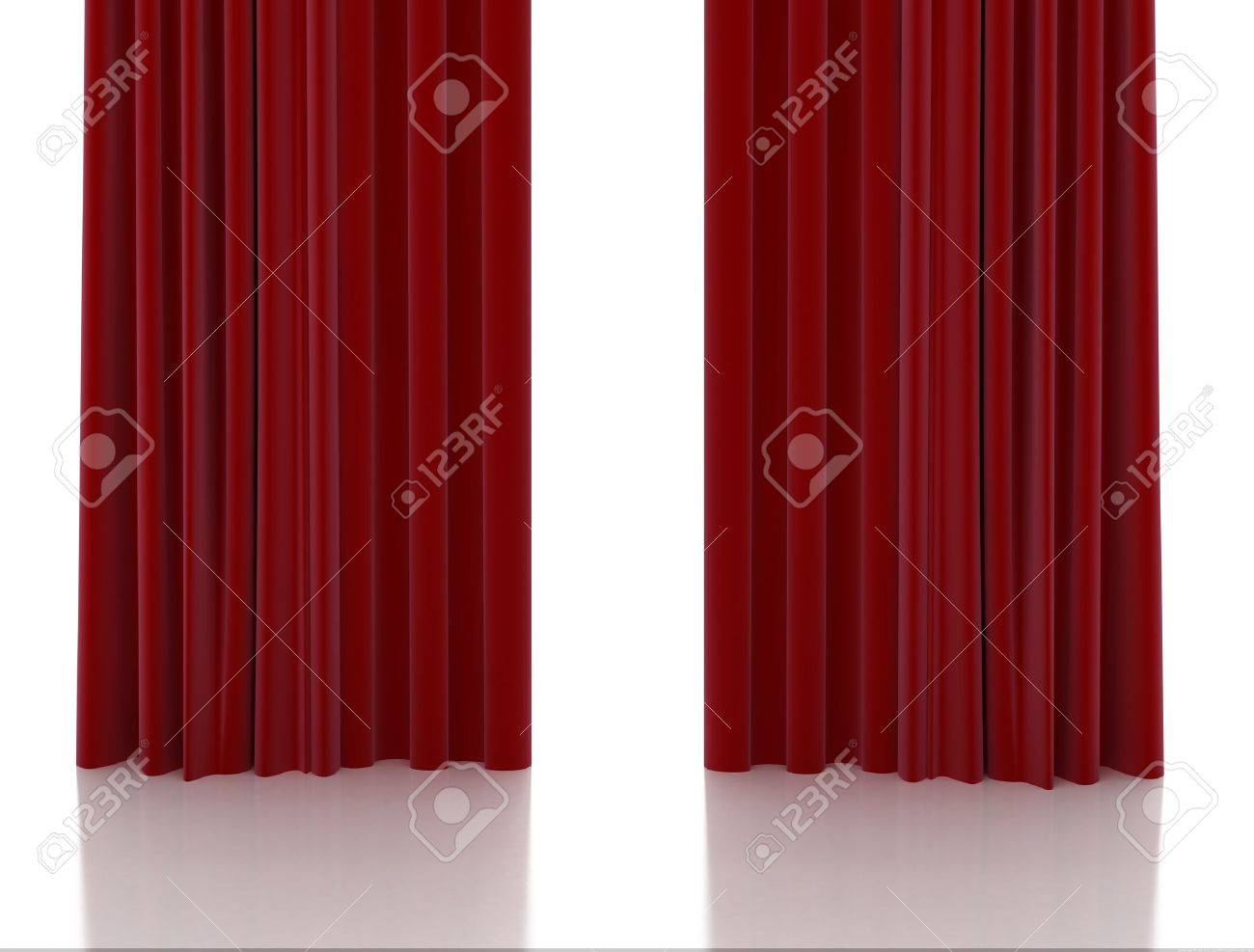Red curtain - 10782137