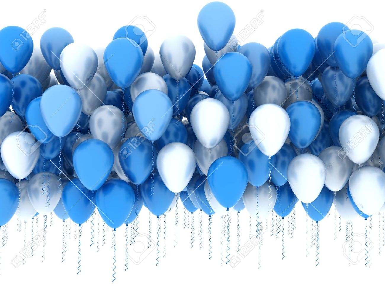 blue and white balloons stock photo picture and royalty free image