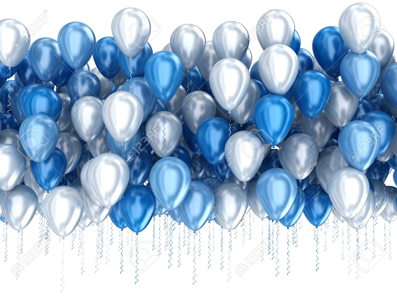 blue balloons isolated on white background stock photo picture and