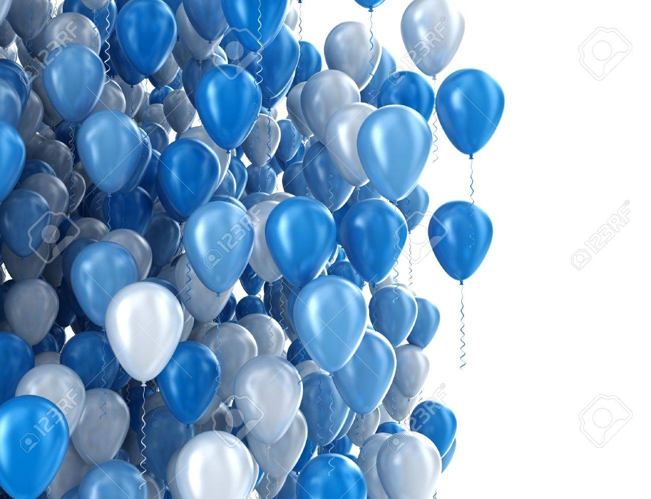 Balloons isolated on white - 18429663