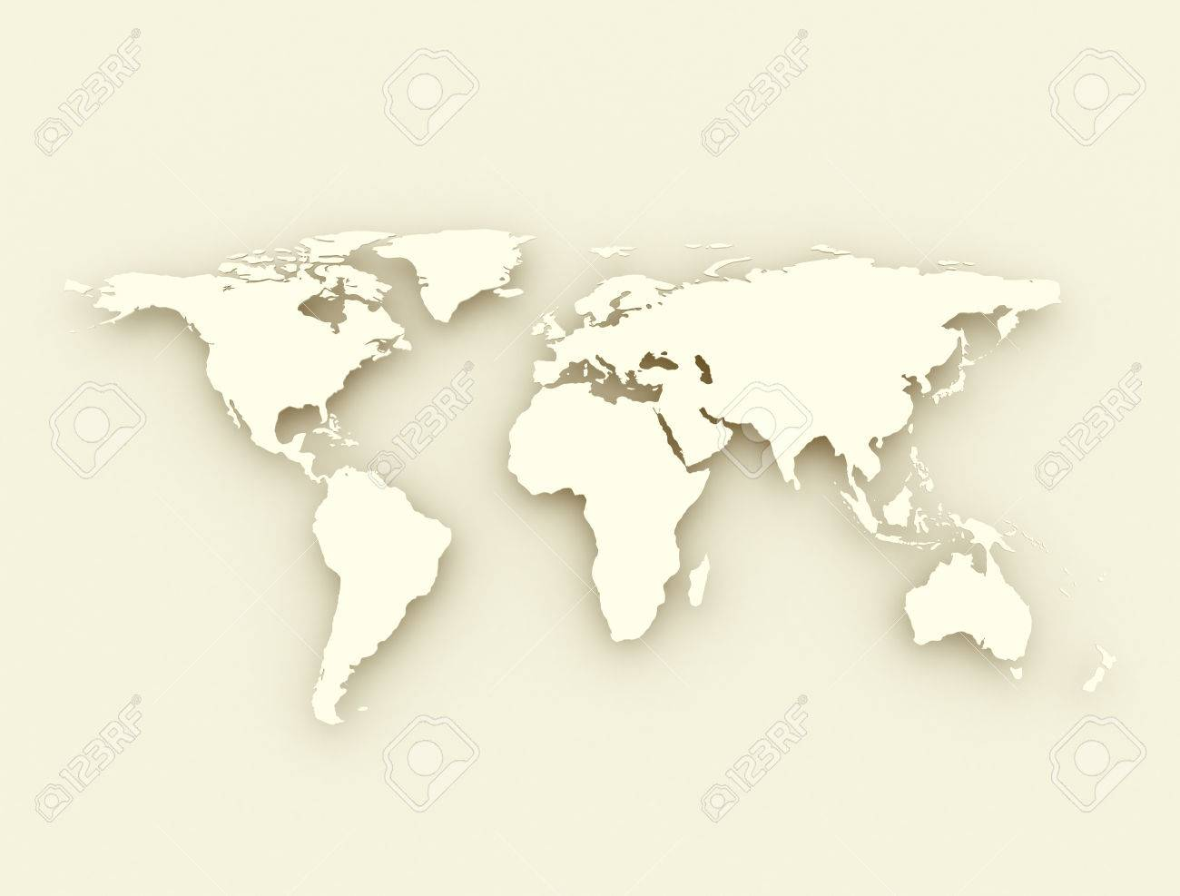 World Map Antique Style Illustration Stock Photo Picture And