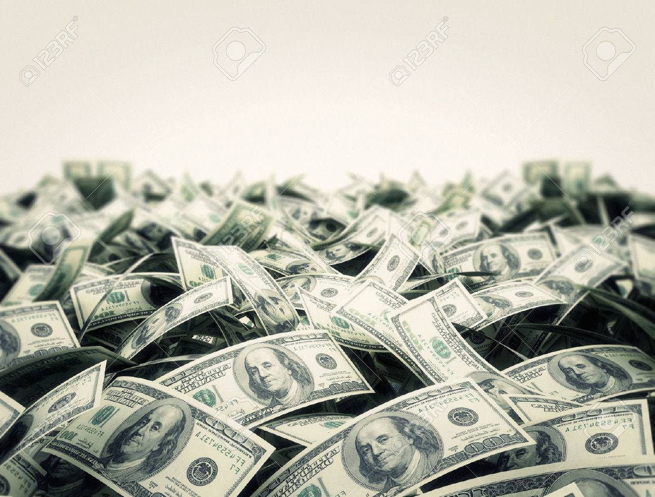 Money background with white copy space area - 54898565