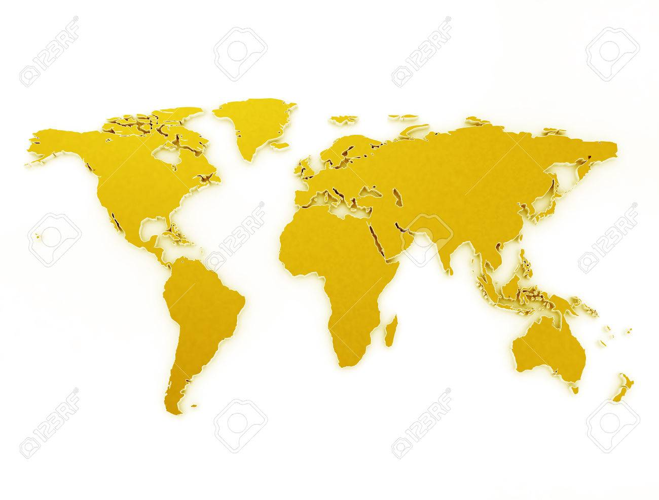 Gold world map 3d isolated on white background stock photo picture gold world map 3d isolated on white background stock photo 57992537 gumiabroncs Images