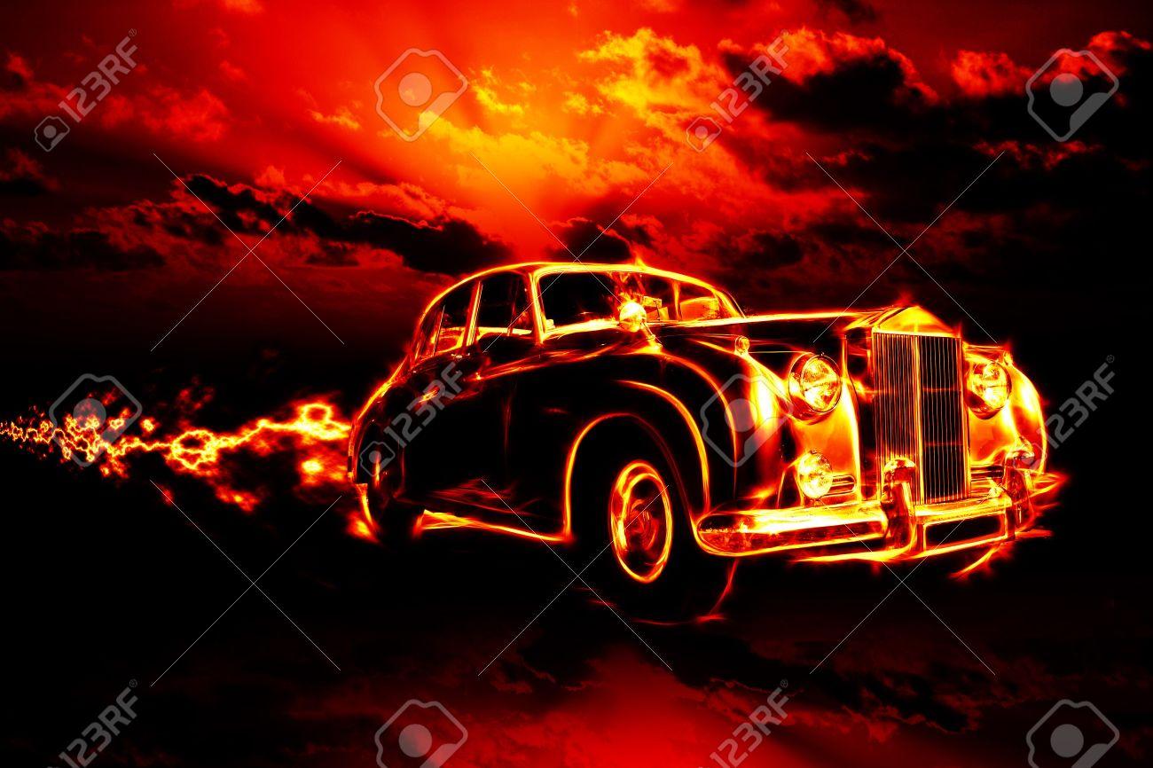 fire car Stock Photo - 4729239