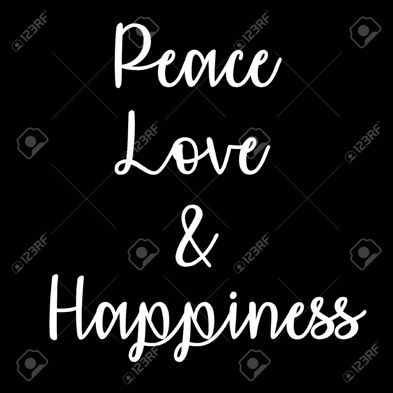 Inspirational and Mindful Quote: Peace Love and Happiness in..
