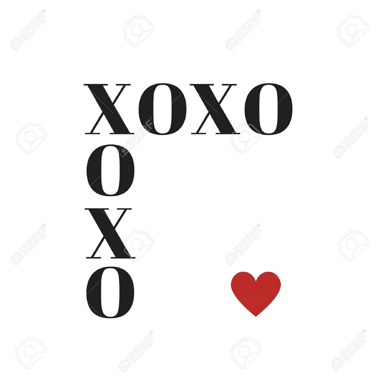 Quote Xoxo Hugs And Kisses In Typography Stock Photo Picture And