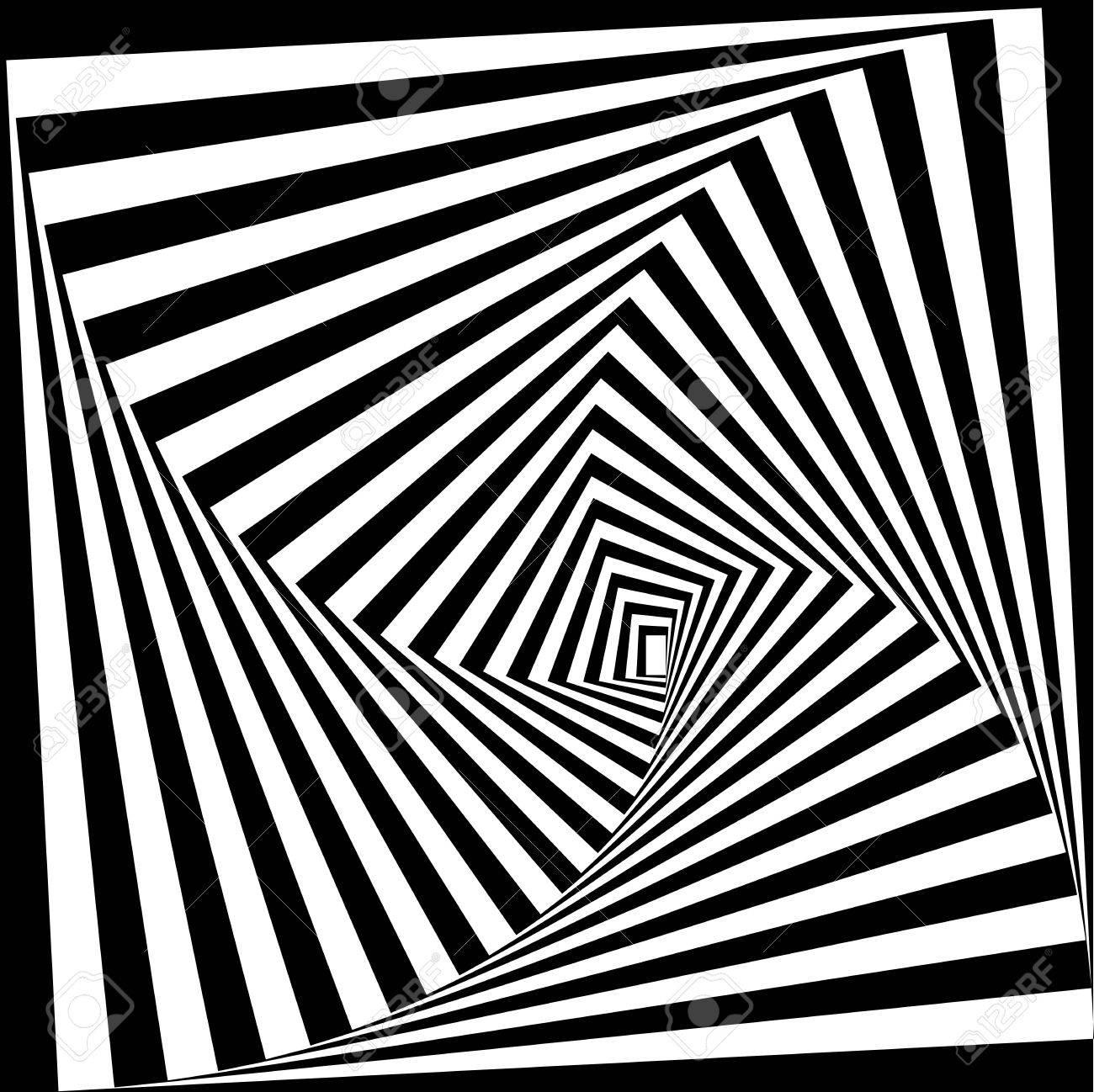 黒と白の目の錯覚。ベクトルの背...