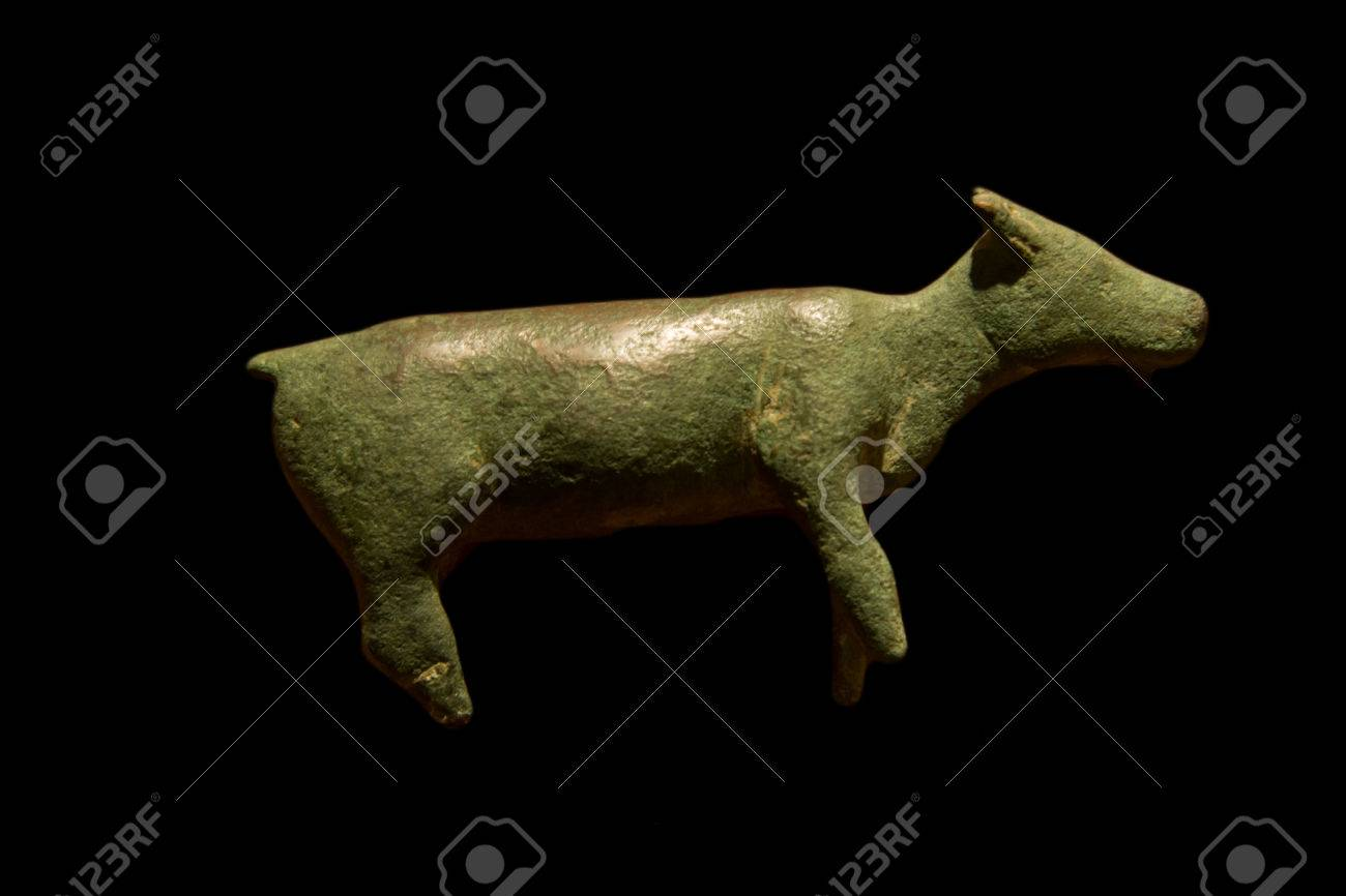 Votive offering figurine with the shape of a goat  Molten bronze