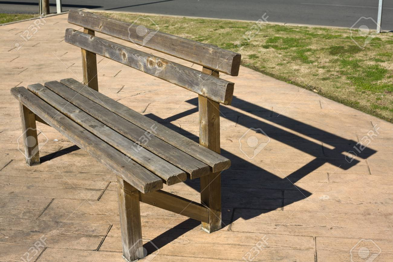 Rustic Wooden Bench In The Park Huelva Spain Stock Photo Picture And Royalty Free Image Image 36063720