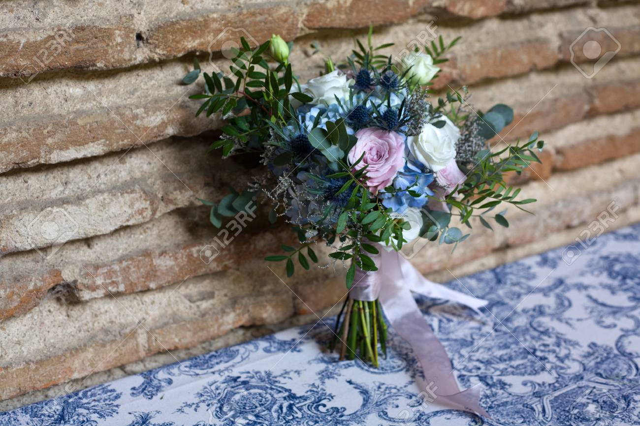 Wedding Bouquet Of Bride Bridal Flowers Bouquet In Wedding Day Stock Photo Picture And Royalty Free Image Image 36140780