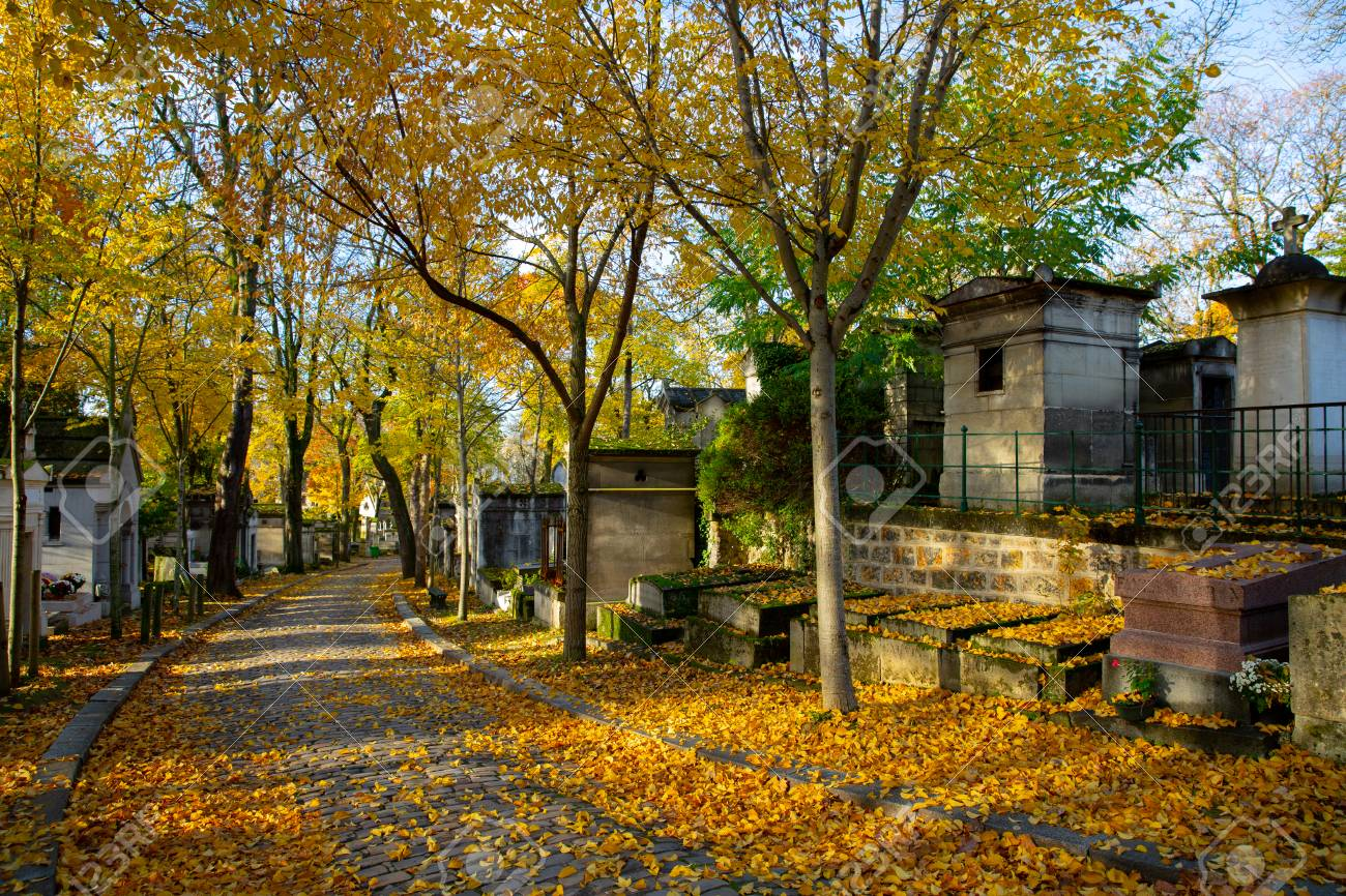 Famed Pere Lachaise Cemetery In Paris France During Autumn Stock Photo Picture And Royalty Free Image Image 100979140