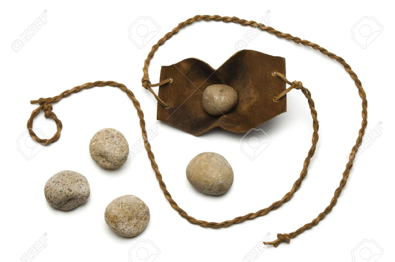 sling and five smooth stones used by david to kill goliath on