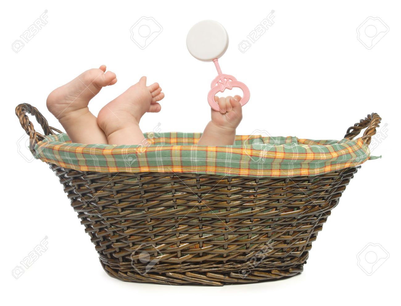 Baby in Basket Stock Photo - 9524911