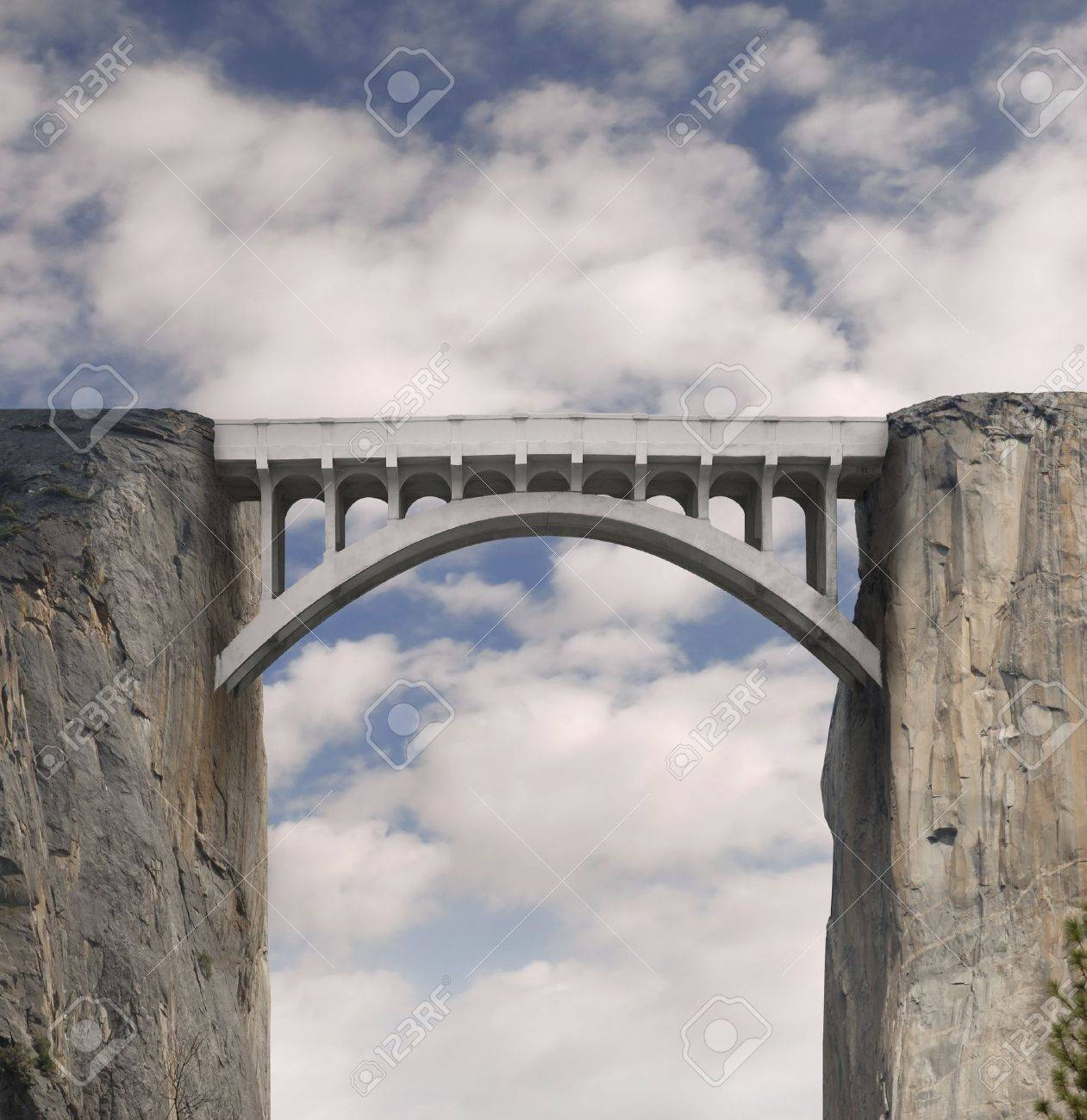 Bridging the Gap Stock Photo - 9525019