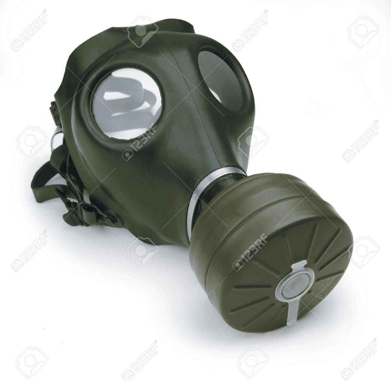 gas mask on white background Stock Photo - 7049169