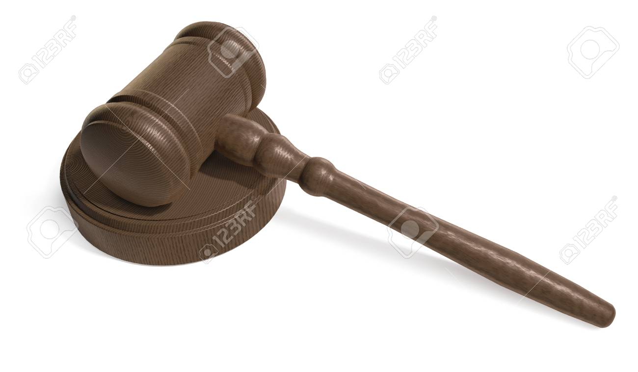 Judges Gavel on white background Stock Photo - 7050792