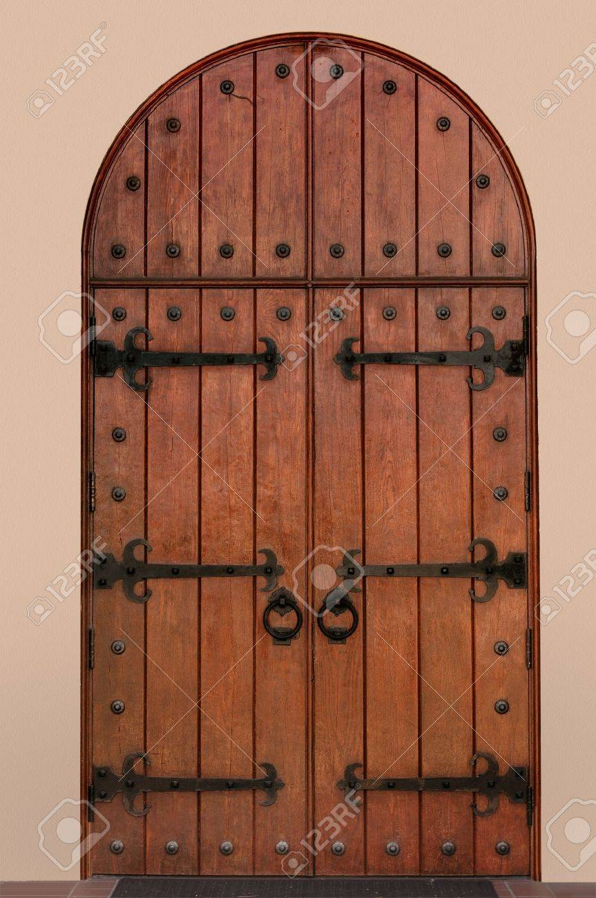 Arched medieval door Stock Photo - 7060328 & Arched Medieval Door Stock Photo Picture And Royalty Free Image ...