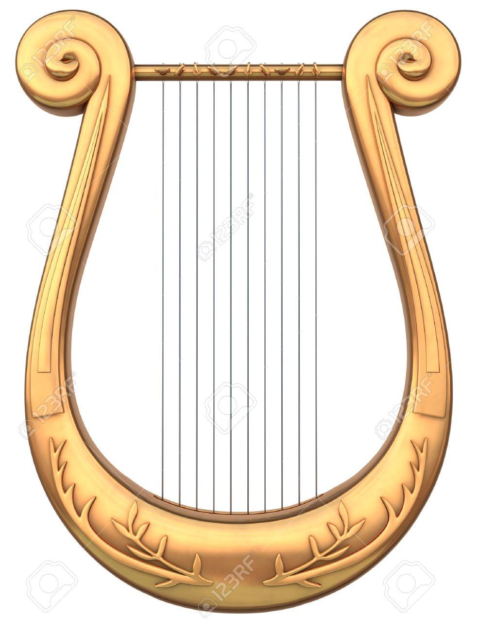 Zeichen der Endzeit - Seite 4 7059439-Un-instrumento-musical-de-cuerdas-de-la-lira-sobre-un-fondo-blanco-Foto-de-archivo