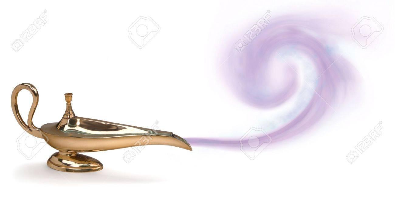 Genie lamp stock photos pictures royalty free genie - Genie In A Bottle Magic Genie Lamp With Purple Smoke