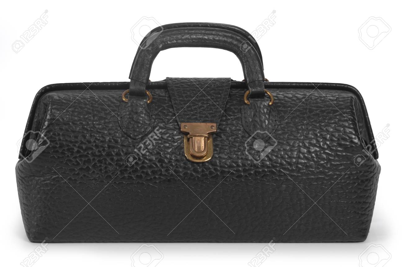 Vintage, black medical bag in closed position Stock Photo - 7054138
