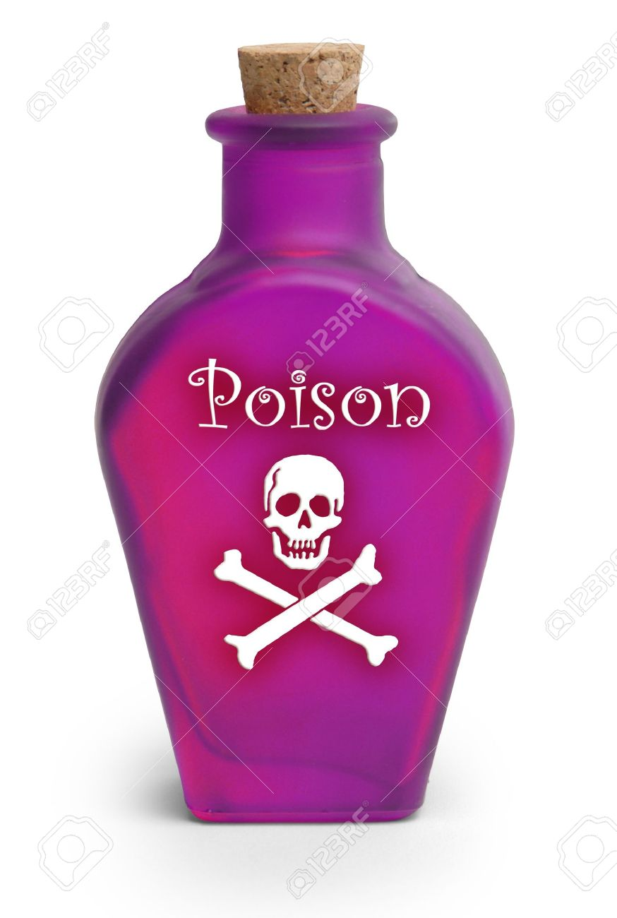 bottle of poison on white background stock photo picture and