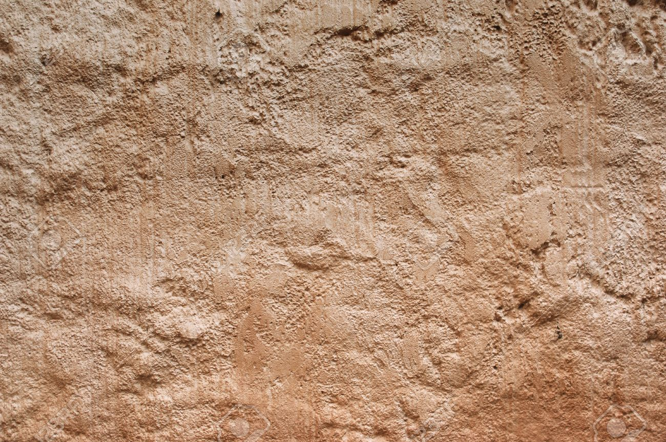 Ancient Rustic Red Moroccan Stucco Surface Texture Background Stock Photo