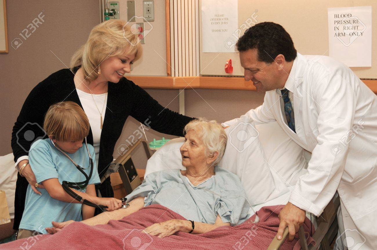 nursing home visit with doctor Stock Photo - 9539257