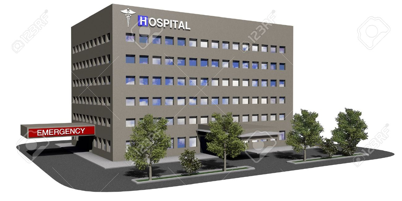 Generic hospital model on a white background Stock Photo - 15440791