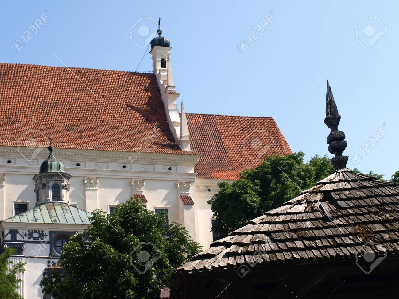 Old church near Old Market place in Kazimierz Dolny, Poland Stock Photo - 13775726