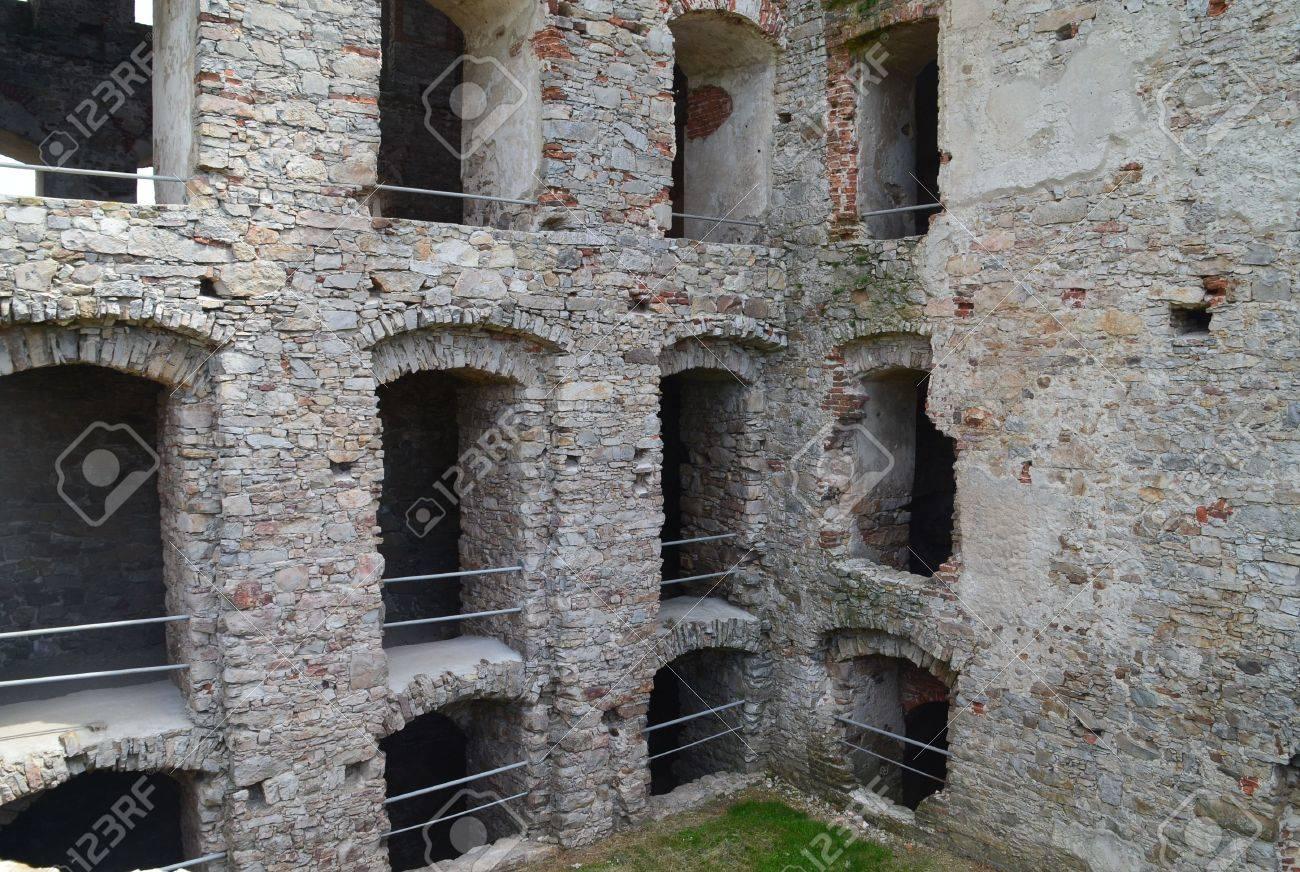 stock photo ujazd poland may 29 2016 castle ruins krzyztopor in ujazd near opatow in poland