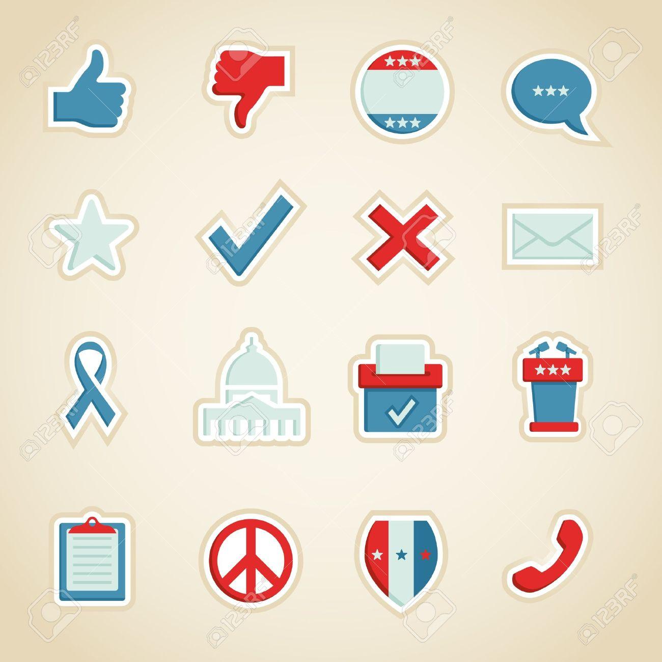 Political Icons Stock Vector - 11187269