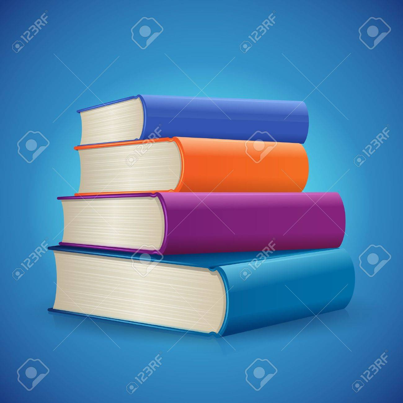 Stack of Books Stock Vector - 14588007