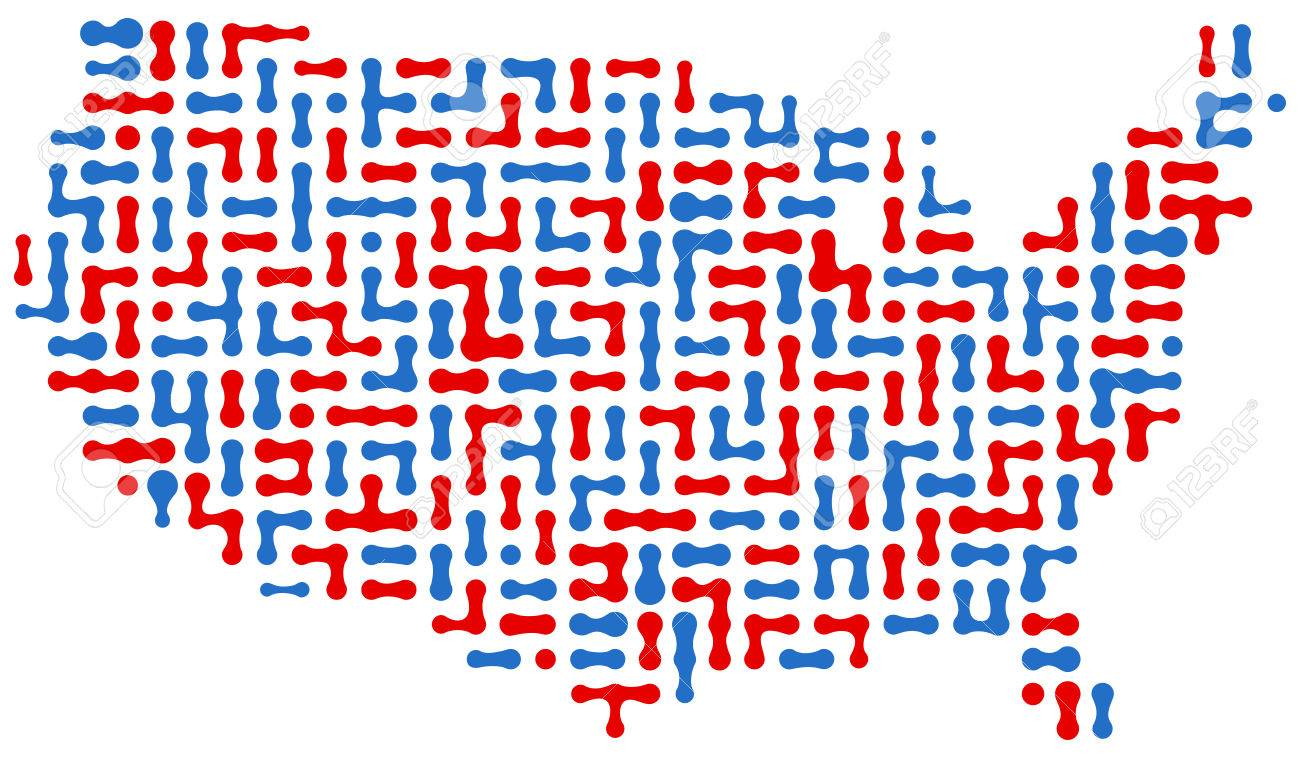 USA Dot Map Royalty Free Cliparts Vectors And Stock - Us map dot