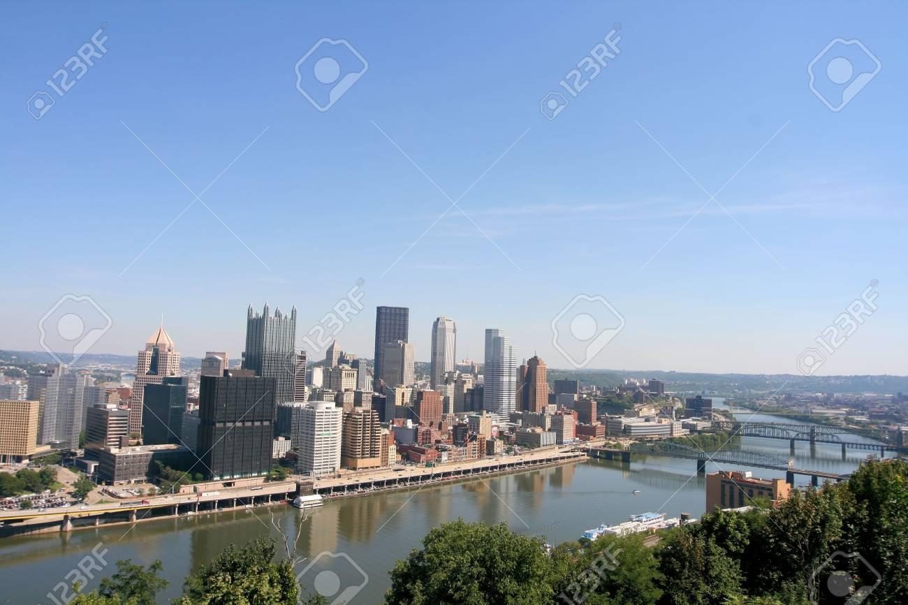 Pittsburgh's skyline from Mount Washington Stock Photo - 2319351