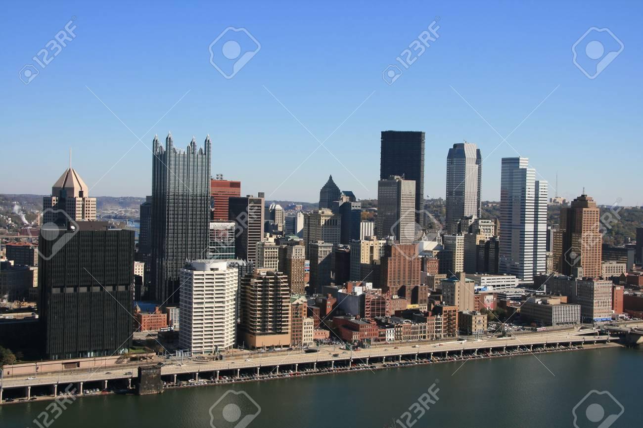 Pittsburgh's skyline from Mount Washington Stock Photo - 3796850