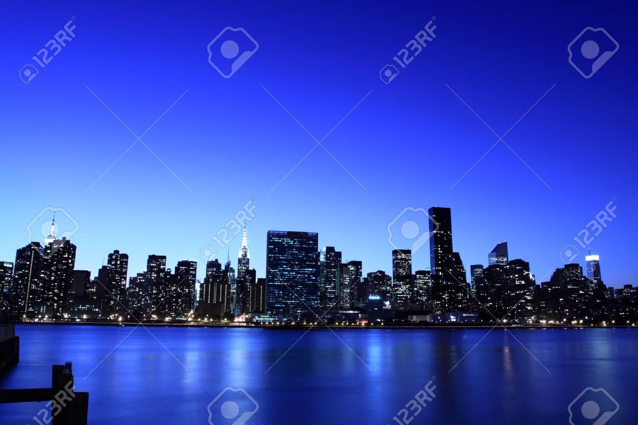 Manhattan skyline at Night Lights Stock Photo - 5501500