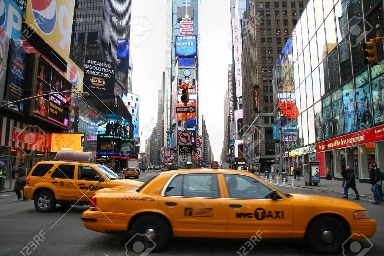 Times Square, New York City-January 13, 2009 Stock Photo - 6885393