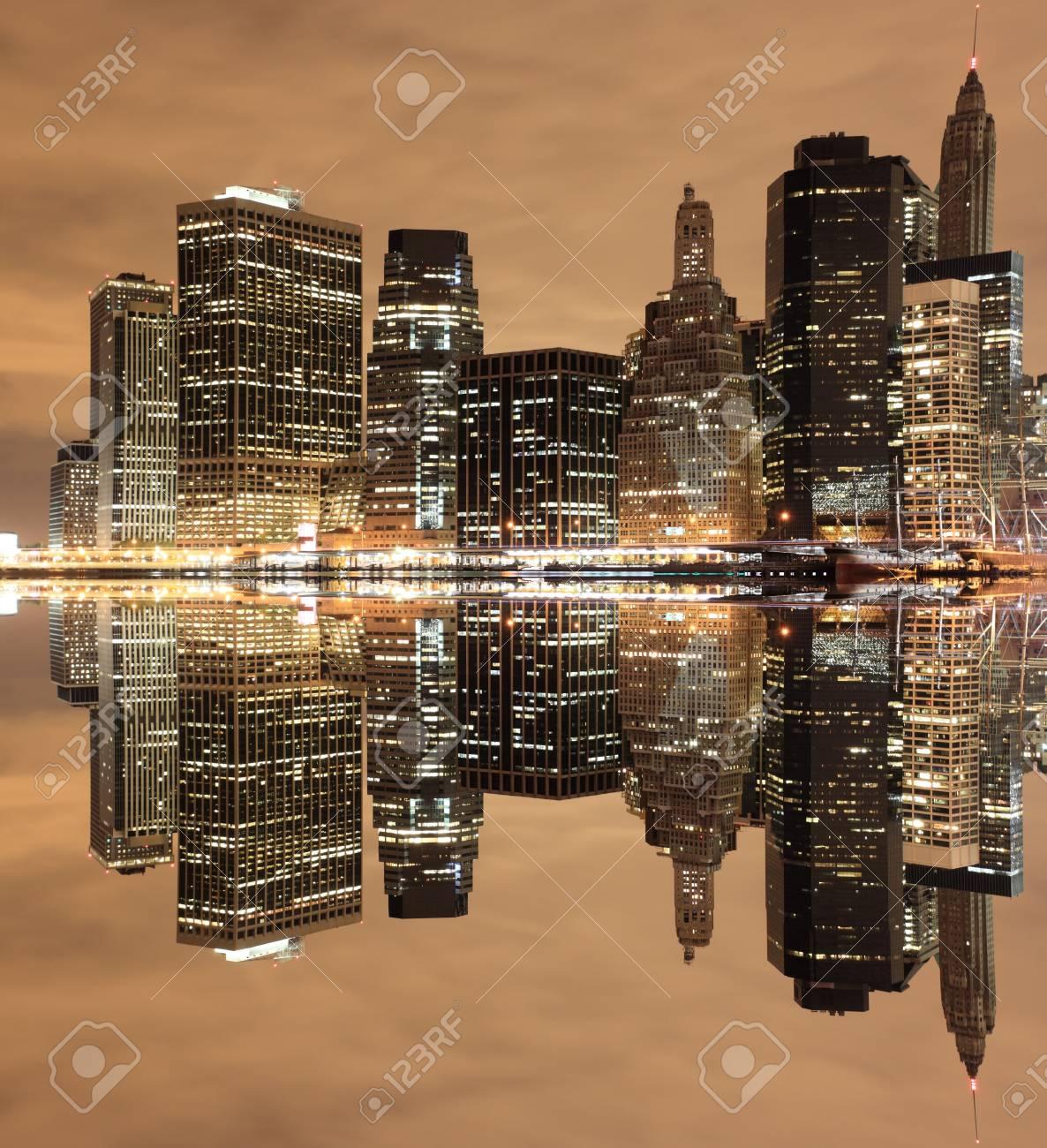 Manhattan Skyline At Night, New York City Stock Photo - 12972566