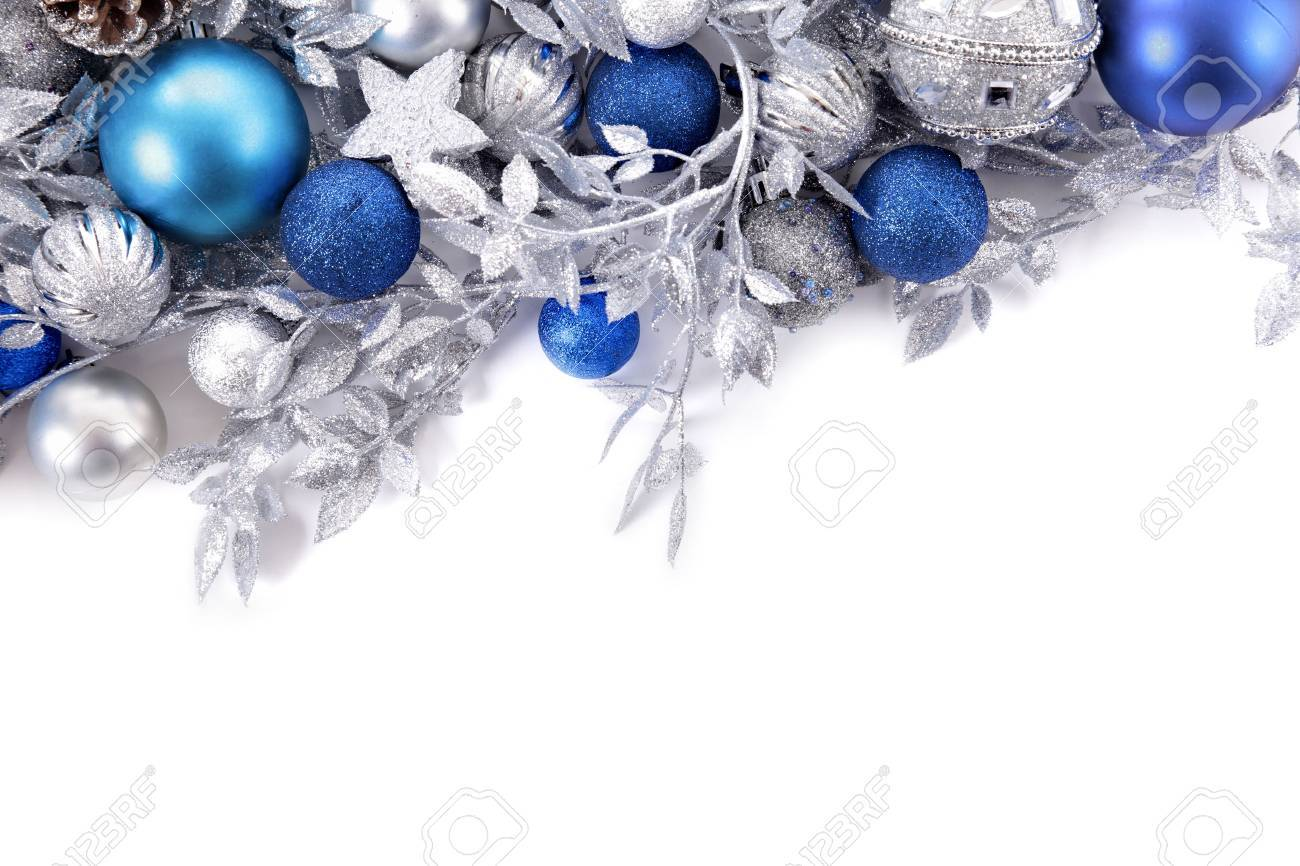 Christmas Border With Traditional Decorations Space For Copy Stock Photo