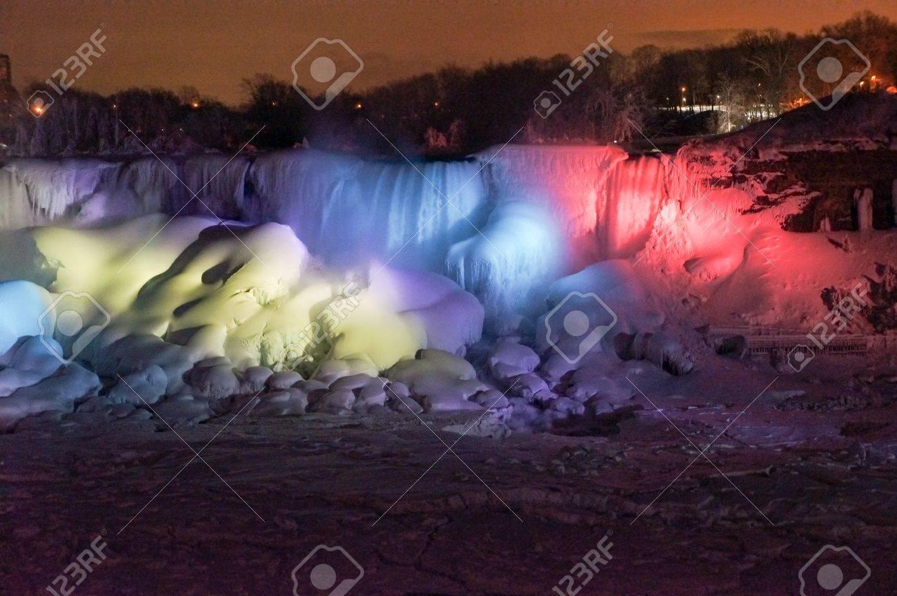 Niagara Falls At Winter Night
