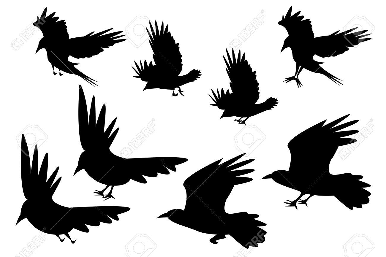 イラスト 鳥 飛ん でる