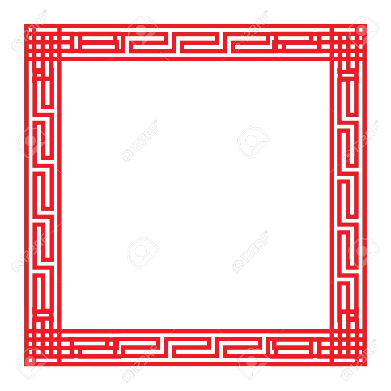 classic chinese red square frame vector royalty free cliparts rh 123rf com picture frame vector download picture frame vector png