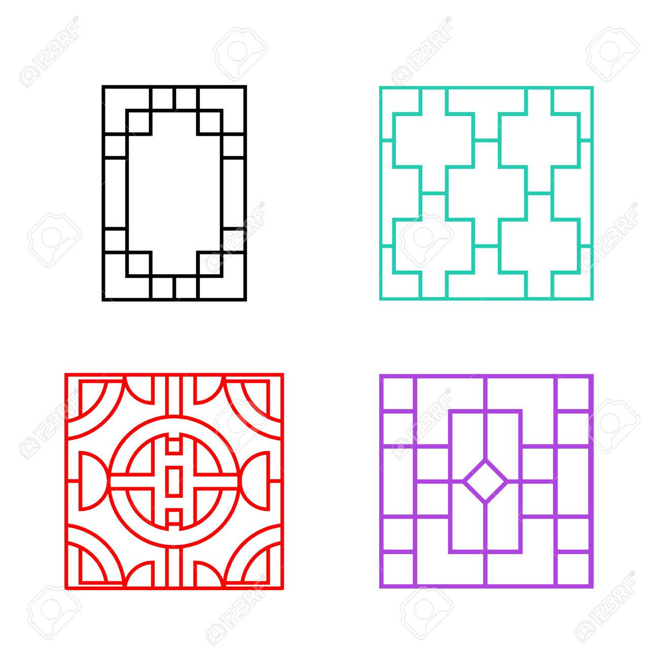 Chinese Fence Design Chinese ornament for door window wall and fence vector royalty chinese ornament for door window wall and fence vector stock vector 69257541 workwithnaturefo